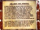Toowoomba Boer War Gates - Plaque