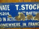 Plaque for Private T. Stocker