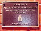 Allied Forces Intelligence Memorial Plaque, Ascot
