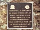 Kilkivan War Memorial - Plaque1