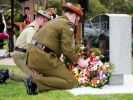Poona ANZAC War Memorial - Dedication, Australian and New Zealand defence Force personnel laying wreathes.