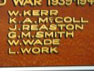 Walkerston Satate School Roll of Honour 1939–1945 - Names