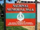 RAR National Memorial Walk - sign - 2009