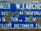 Plaque for Signaller W.J. Archbold