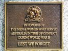 Graceville War Memorial - Australia Remembers Plaque