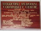 Woodford Community Memorial Centre - dedication plaque