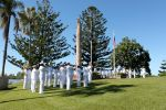 Ceremony May 2011. United States 7th Fleet Band (left); Royal Australian Navy Band (right)