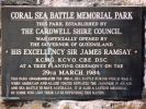 Cardwell Battle of the Coral Sea Memorial