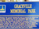 Graceville War Memorial - Park sign