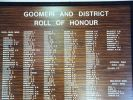 Goomeri and District Roll of Honour - upper portion