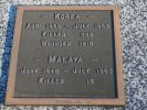 Plaque, Korea, Malaya