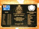 Mudjimba War Memorial Plaque