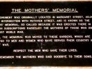 Toowoomba The Mothers' Memorial - Plaque