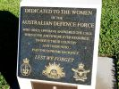 Bundaberg Service Women's Memorial - 2009