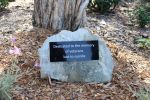 Plaque dedicated to the memory of veterans lost to suicide