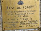 Australian and Allied Forces Memorial - plaque