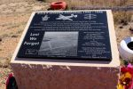 Etched black granite plaque