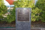 Stone with dedication plaque for ANZAC Memorial