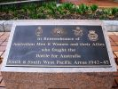 Brisbane Battle of Australia Memorial - plaque