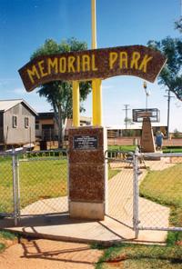 Quilpie Memorial Park Gates