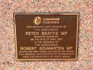 Brisbane Battle of Australia Memorial - dedication plaque
