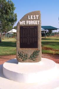 Thargomindah and District War Memorial